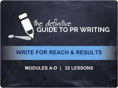 Online PR Training: The Definitive Guide to PR Writing